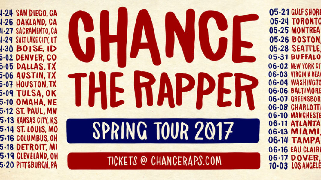 Chance The Rapper tour