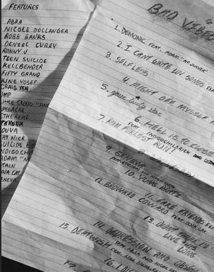 xxxtentacion bad vibes forever tracklist