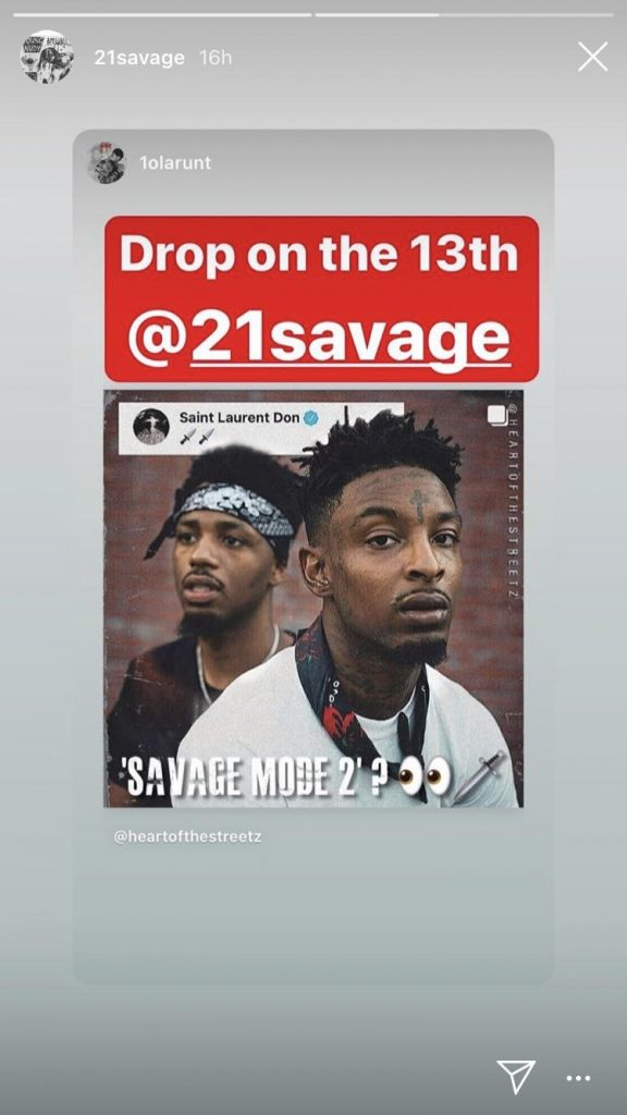 21 savage may have just leaked the savage mode 2 release date rhyme hip hop